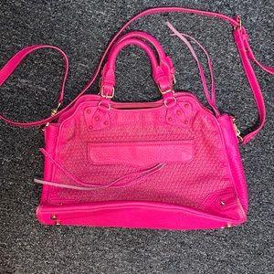 Rebecca Minkoff Desire Satchel Hot Pink/Gold